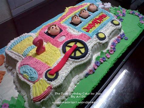 The train birthday cake
