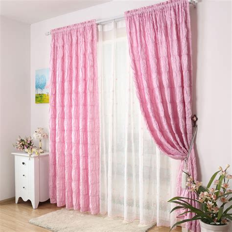 Pink Curtains For Bedroom | captivating girls bedroom pink curtain