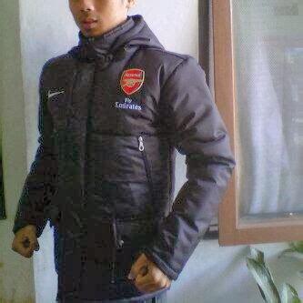 Jaket Waterproof Arsenal Manager 1 Grosir Jaket Manager Pelatih Waterproof Parasut Anti Air