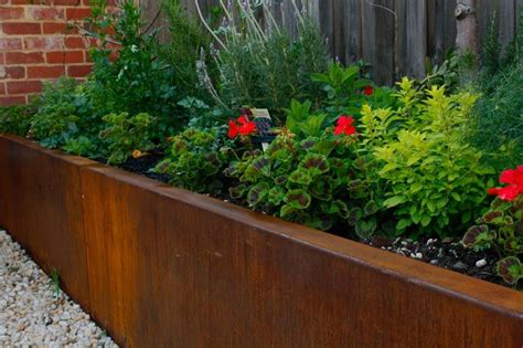 landscape bed edging steel retaining walls melbourne
