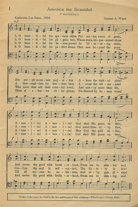 printable lyrics america the beautiful the music theory profblog music theory for students