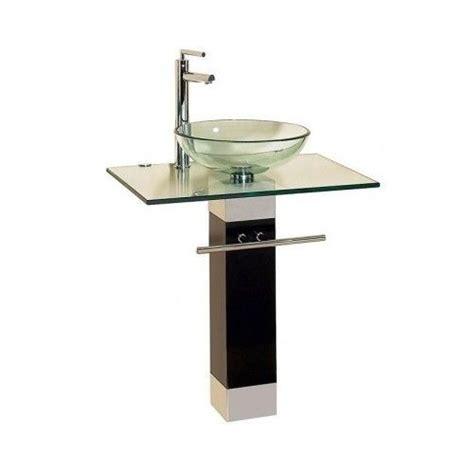 glass bathroom vessel sink vanity pedestal vanity pedestal bathroom contemporary glass vessel sink