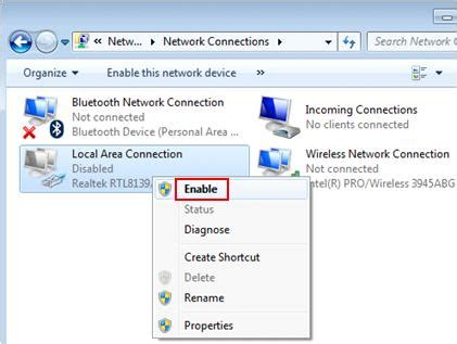 configure xp to allow access from the network how to disable or enable network adapter in windows 7