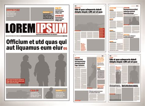 free newspaper layout design templates typesetting newspaper vector templates 01 vector