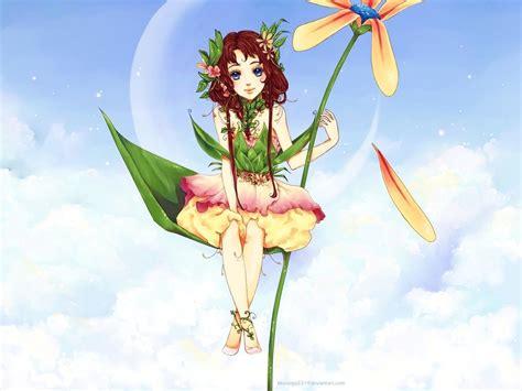 wallpaper flower fairy flower fairy wallpaper by bluesaga331