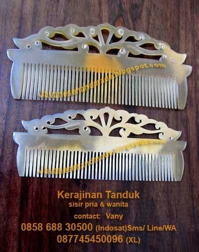 Sisir Tanduk javanese handmade horn wood craft