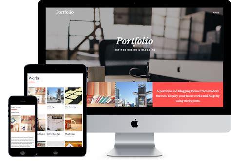 Portfolio Modern Themes Cool Portfolio Templates