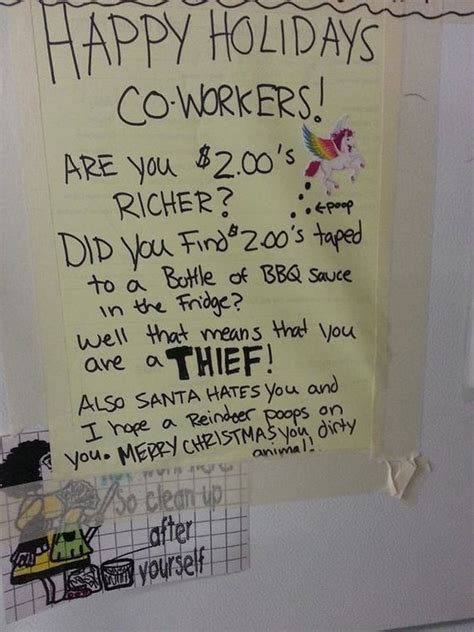 work fridge notes  prove sharing  caring barnorama