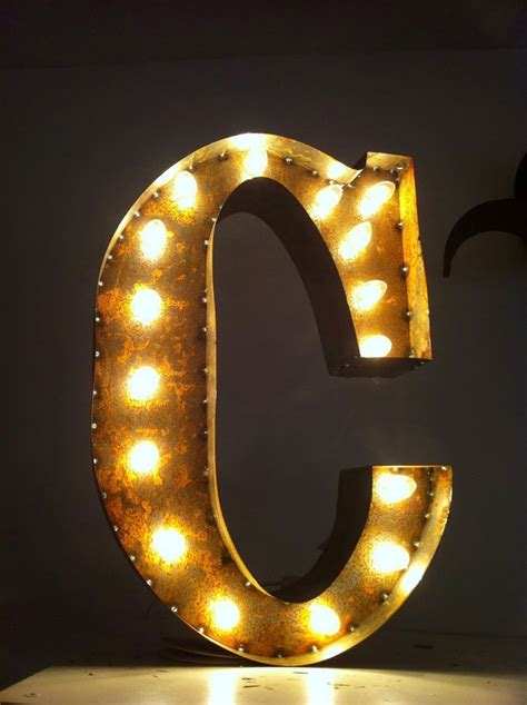 C Light by Vintage Marquee Lights Ready To Ship Letter C