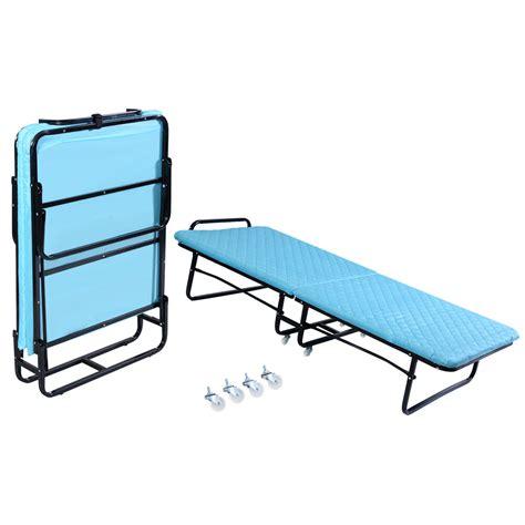 Portable Beds by Goplus Folding Bed Foam Mattress Roll Away Guest