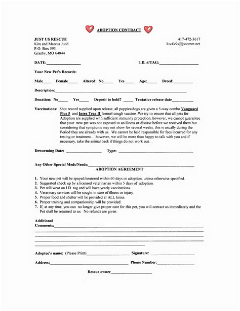 Dog Adoption Agreement Related Keywords Dog Adoption Agreement Long Tail Keywords Keywordsking Spay And Neuter Contract Template