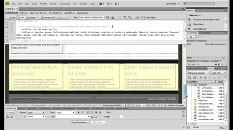 dreamweaver templates free html creating new html files from dreamweaver templates