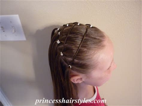 elastic hair band hairstyles four square elastic hairstyle hairstyles for girls