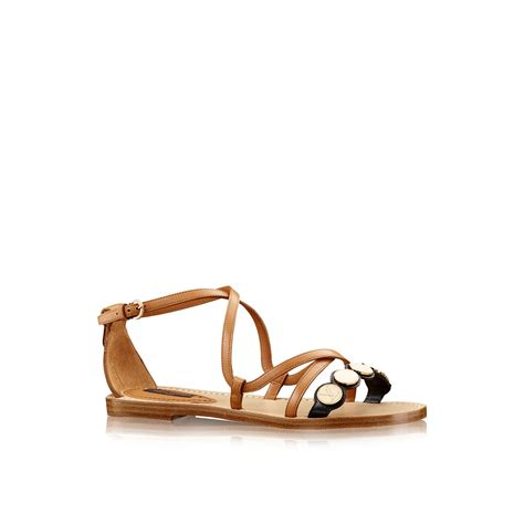 louis vuitton sandals louis vuitton south sandal in brown lyst