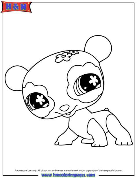 littlest pet shop cute panda coloring page hm coloring