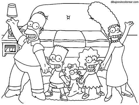 imagenes de la familia los simpson dibujos de la familia simpsons para colorear