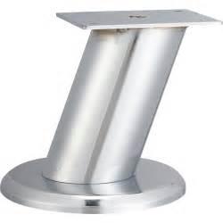 pied de meuble design fixe acier chrom 233 gris 10 cm
