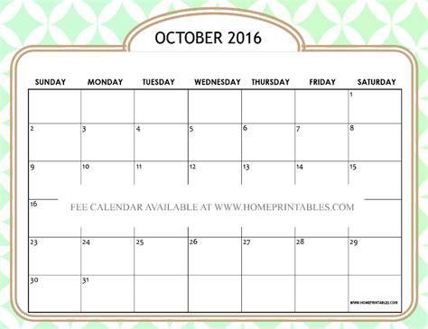 design printable calendar 2016 free printable october 2016 calendar cute designs home