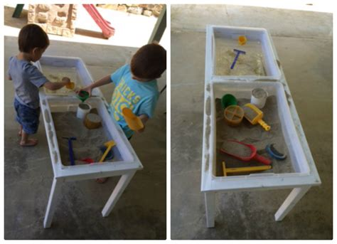 popular with the poplins diy sand and water table