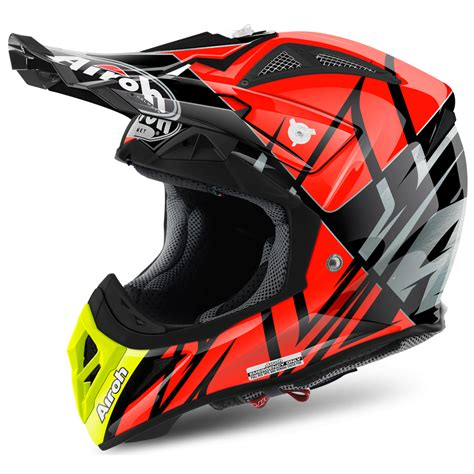 airoh motocross helmets uk airoh aviator 2 2 styling orange motorcycle helmets from