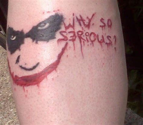 tattoo joker why so serious why so serious