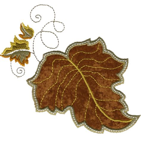 leaf applique free embroidery design leaf applique