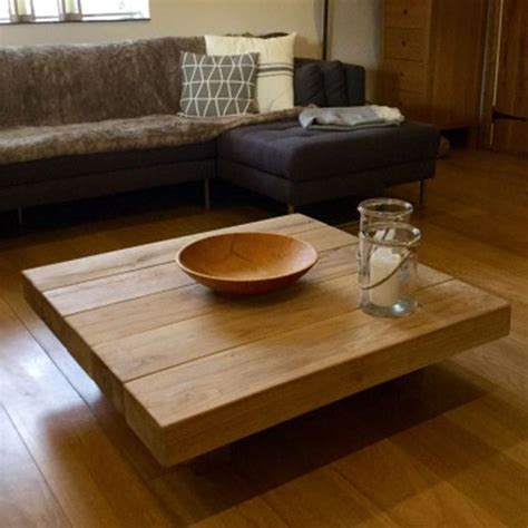 floating coffee table square coffee tables buy floating square oak sleeper