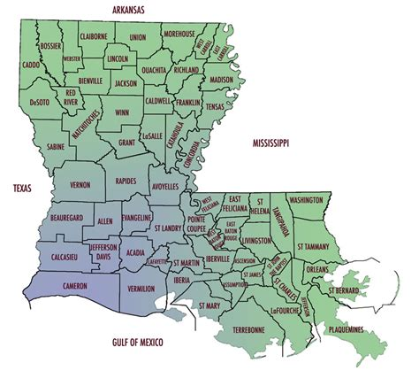 louisiana map index clickable louisiana parish map