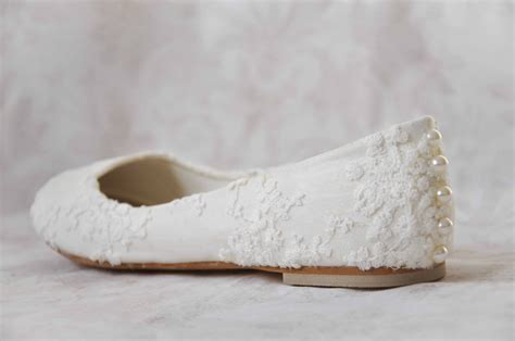 Wedding Flats by Lace Wedding Shoes Lace Flats Lace Bridal Shoes Pearl Flats