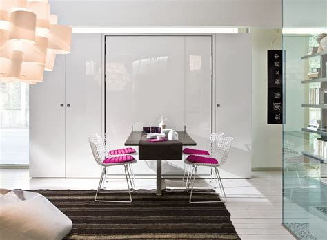 Murphy Bed With Dining Table Ulisse Murphy Wall Bed Dining Table Space Saving