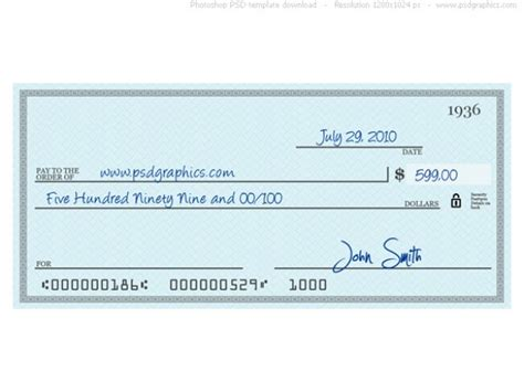 large check template blue check psd template psd file free