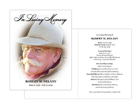 memorial card templates memorial cards memorial programs and memorial bookmarks