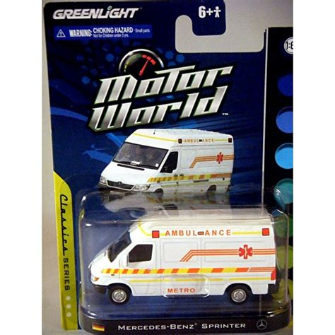 Greenlight Motor World Csite greenlight motor world mercedes sprinter emt ambulance global diecast direct