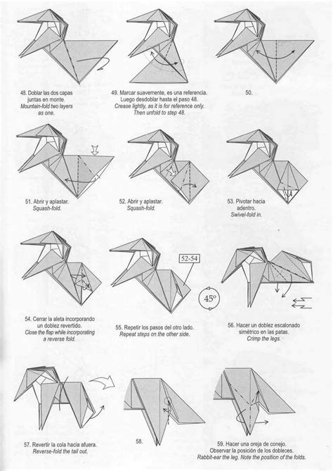 Origami Unicorn Diagram - marvelous origami unicorn origami