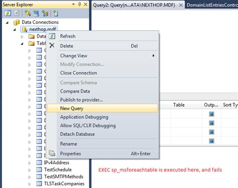 how do i truncate tables in an mdf in sql express