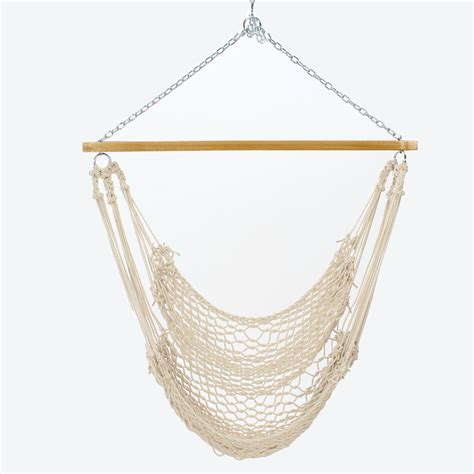 hammock chair swings pawleys single cotton rope hammock swing