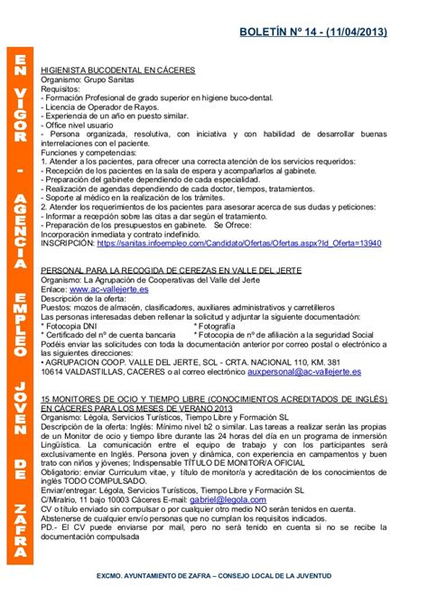 Modelo Curriculum Vitae Higienista Dental Boletin Aej 11 Abril 2013
