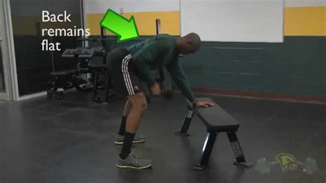 one arm dumbbell row without bench dumbbell and barbell row variations fitchburg state exercise demonstration youtube