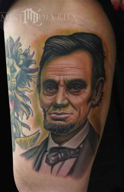 lincoln tattoo ab lincoln by mike devries tattoonow
