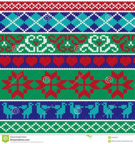christmas pattern border christmas knit border patterns stock illustration image