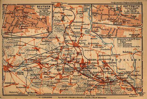 katowice map maps of katowice kattowitz map poland 1910 mapa owje