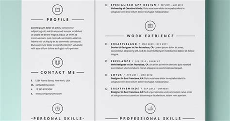 simple design resume template simple resume template vol4 resumes templates pixeden