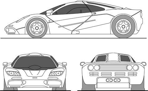 mclaren f1 drawing car blueprints mclaren f1 blueprints vector drawings