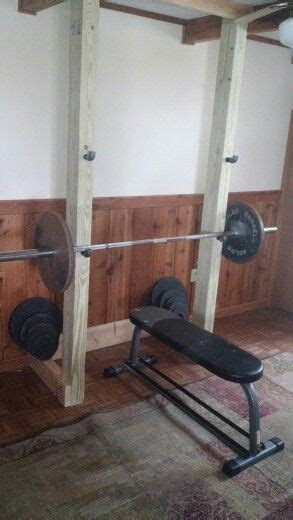 diy fitness bench diy squat rack and bench less than 60 in materials