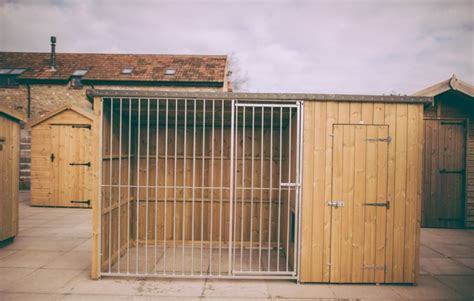 dog house and run dog house and covered run john bright fencing