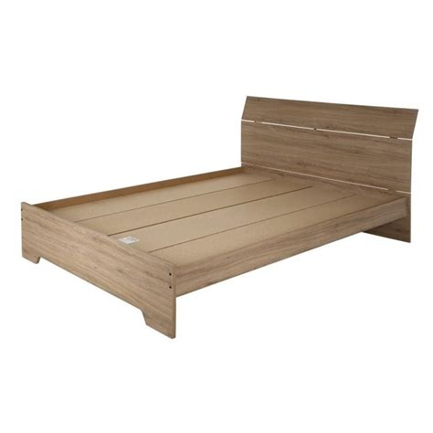 rustic platform beds south shore vito queen wood platform bed in rustic oak