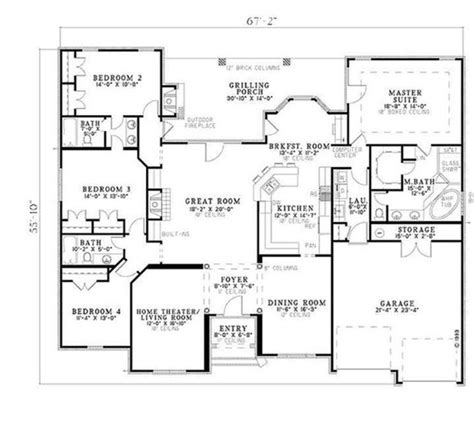 best ranch floor plans 14 best ranch open floor plans images on house