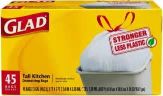 glad kitchen drawstring trash bags 13