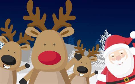 imagenes del reno de santa claus renos junto a papa noel imagenes wallpapers navidad