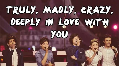 One Direction Truly Madly Deeply by One Direction Truly Madly Deeply Lyrics Pictures